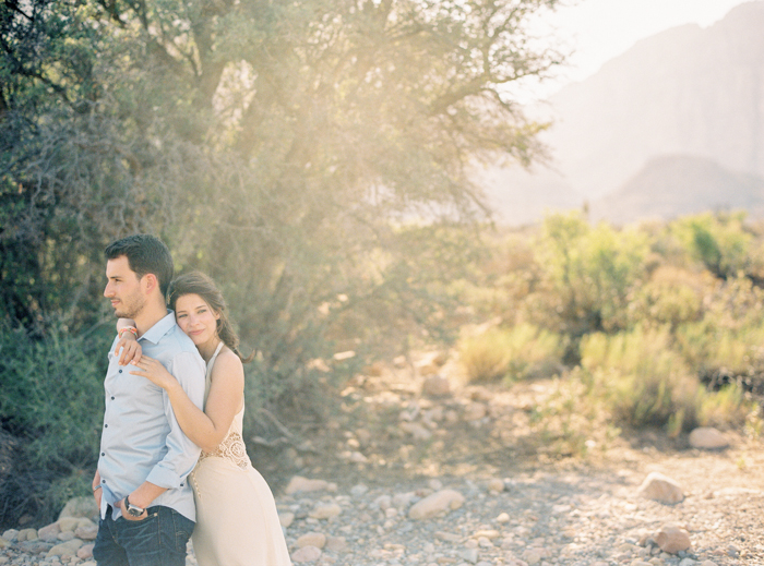 las vegas nature desert engagement photo 8