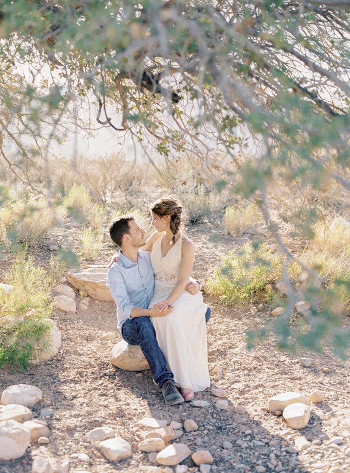 las vegas nature desert engagement photo