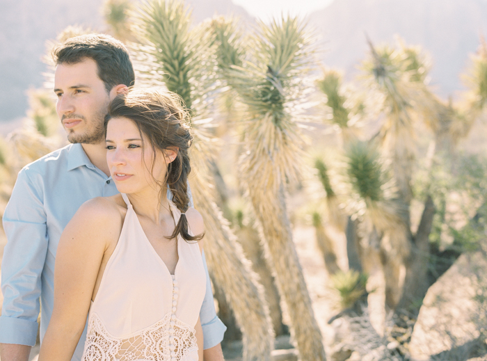 joshua trees engagement photo