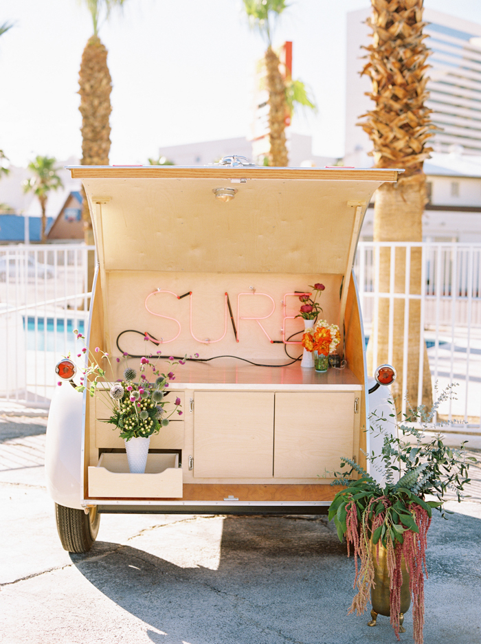 vintage teardrop trailer wedding prop las vegas