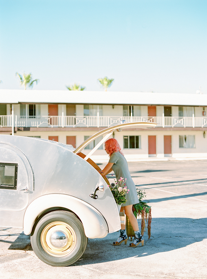 vintage las vegas pop up wedding chapel teardrop trailer