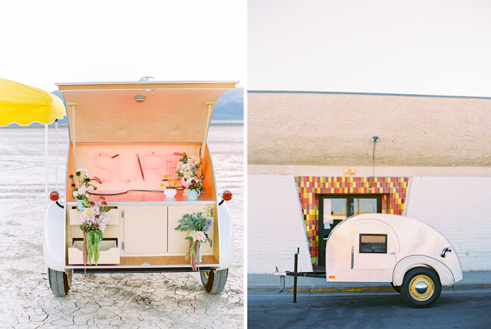 vintage teardrop trailer pop up wedding las vegas