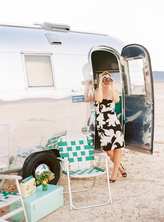 silver trailer wedding rental las vegas