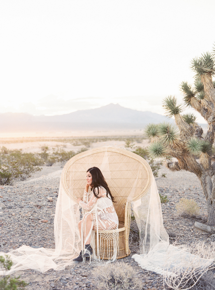 desert peacock chair boudoir photo