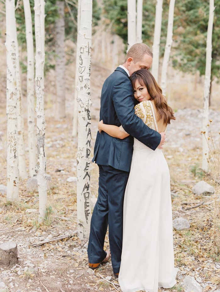 romantic vegas forest engagement photo 4