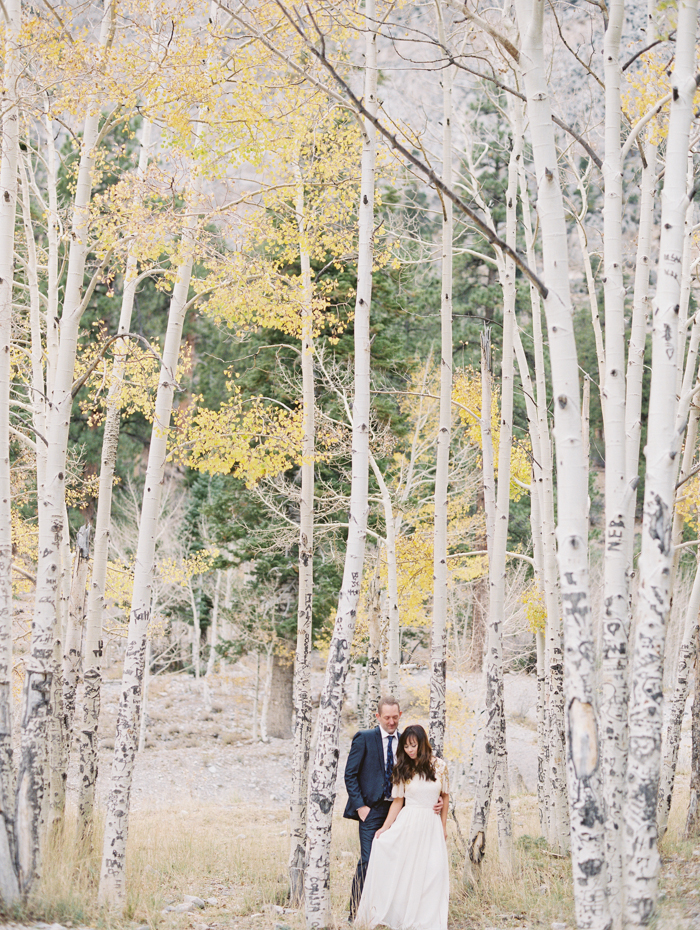romantic vegas forest engagement photo 19