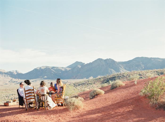 outdoor desert boho reception ideas valley of fire