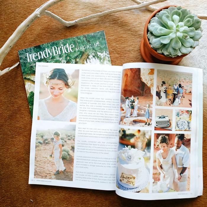 gaby j trendy bride magazine feature