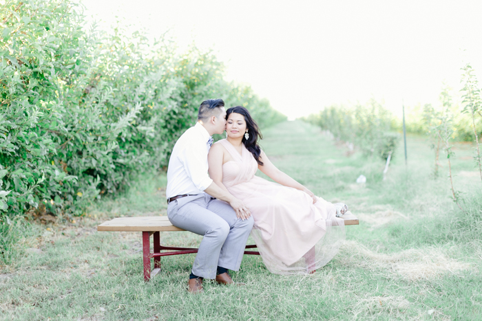 las vegas gilcrease orchard engagement photo 1
