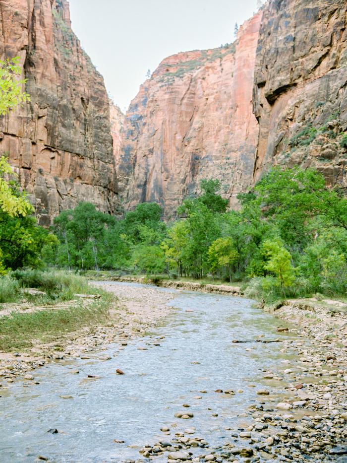 zion national park engagement photo