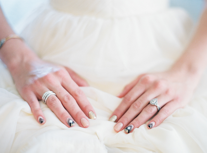 boho indie inspired wedding nail polish