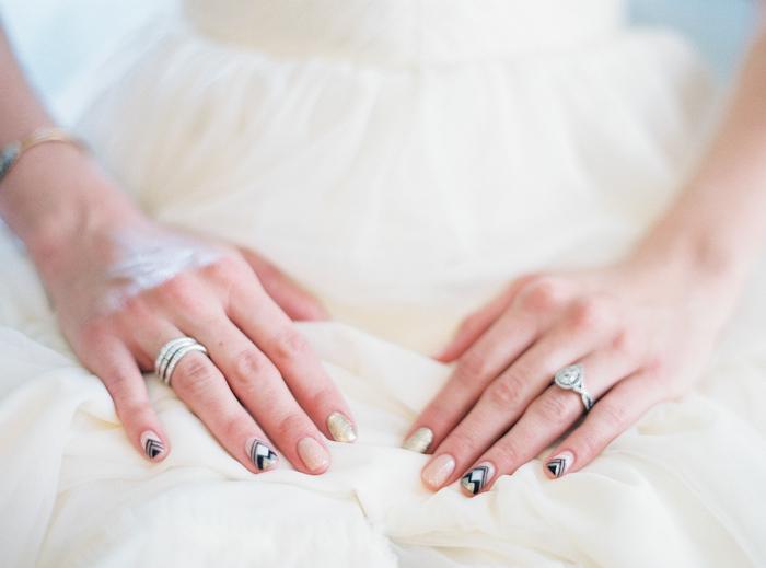 boho indie inspired wedding nail polish