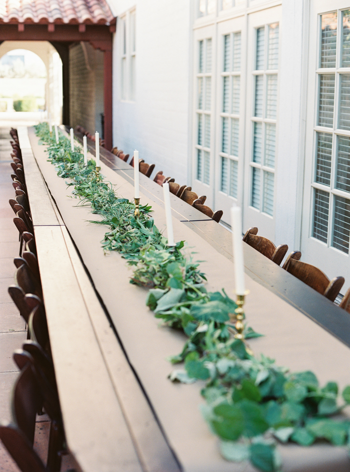 las vegas boho wedding greenery table runner