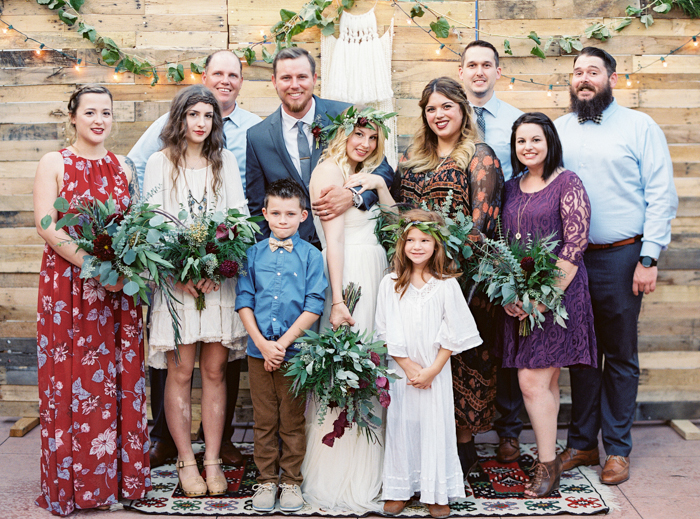 las vegas wedding with boho details photo