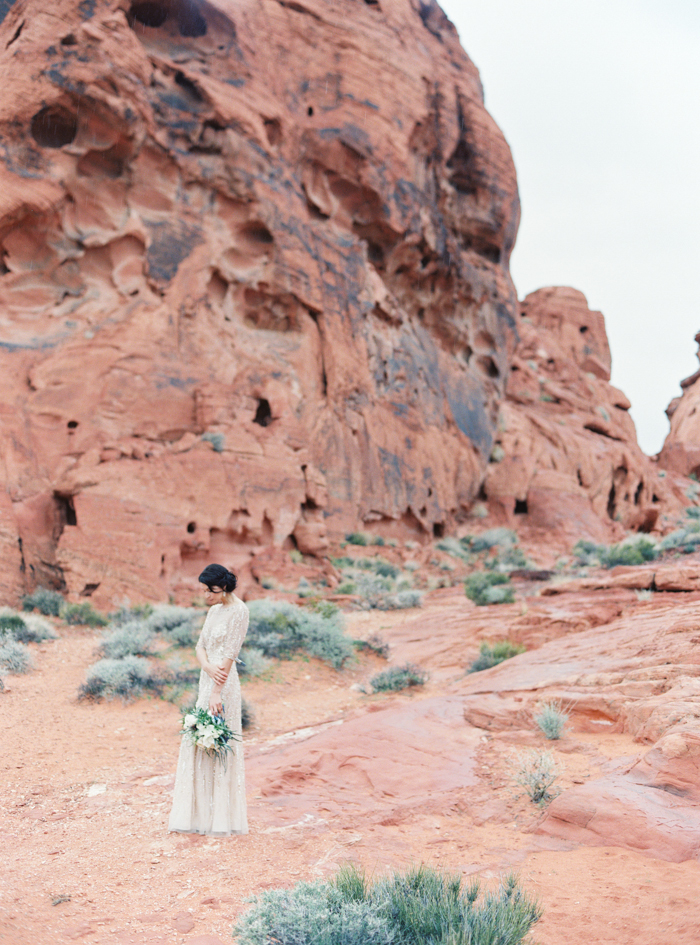 desert and indigo inspired valley of fire wedding photo