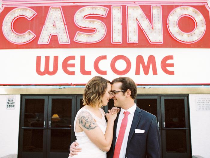 intimate indie desert vegas wedding photo 1