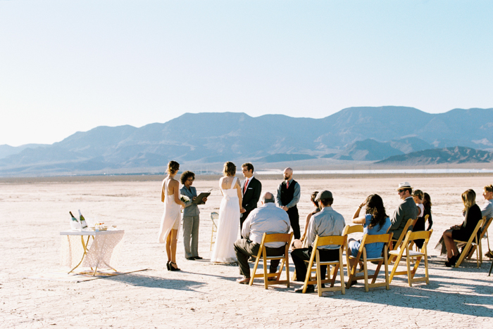 intimate indie desert vegas wedding photo 6
