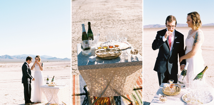 intimate indie desert vegas wedding photo 9