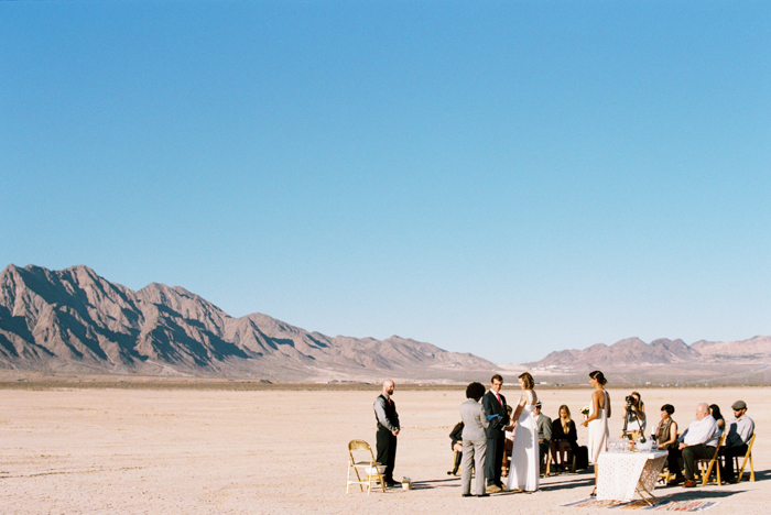 intimate indie desert vegas wedding photo 11