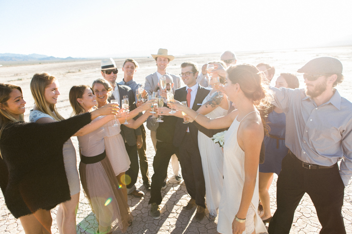 intimate indie desert vegas wedding photo 22