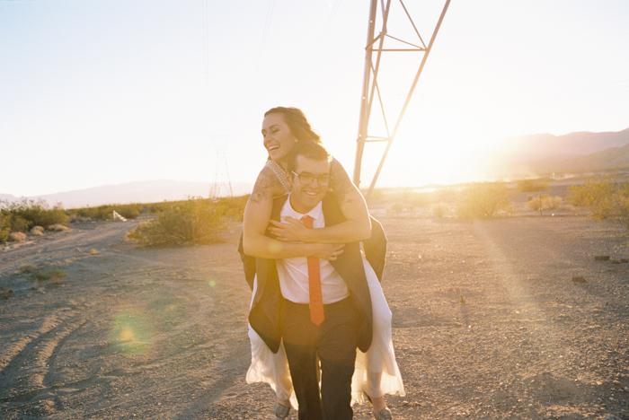 intimate indie desert vegas wedding photo 48