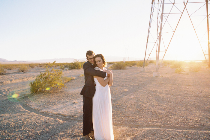 intimate indie desert vegas wedding photo 50