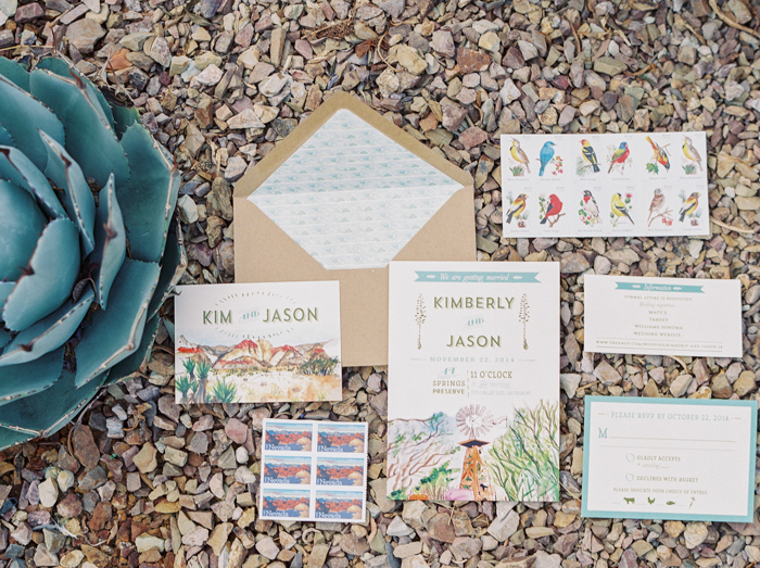 desert inspired wedding invitations by Wide Eyes Design Paper