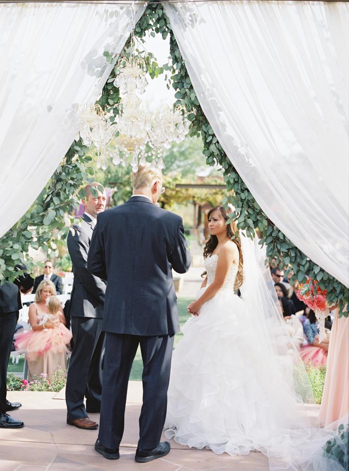 eucalyptus wedding ceremony garland photo