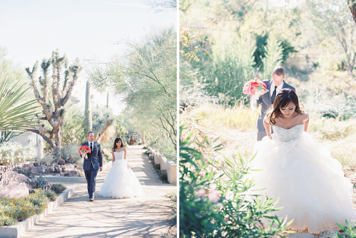 romantic desert arboretum vegas wedding photo 38