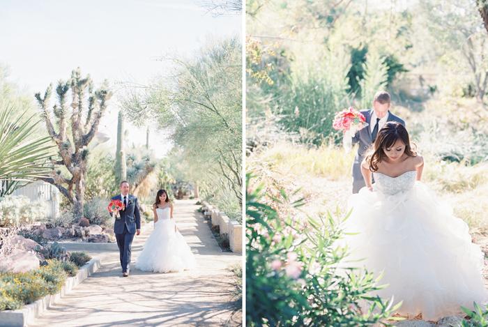 romantic desert arboretum vegas wedding photo 38