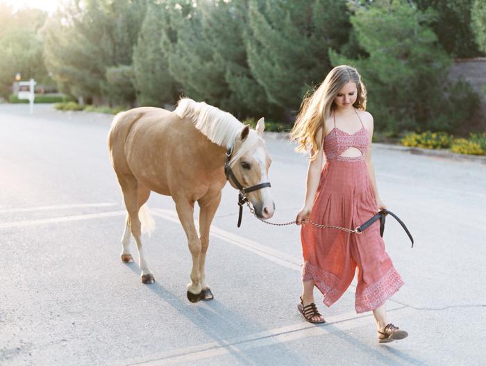 las vegas ranch with horses senior photography