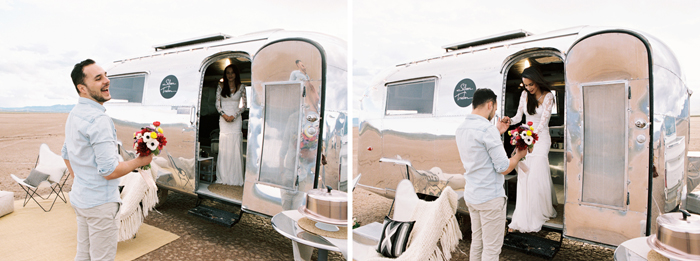 las vegas flora pop silver trailer desert wedding photo 14