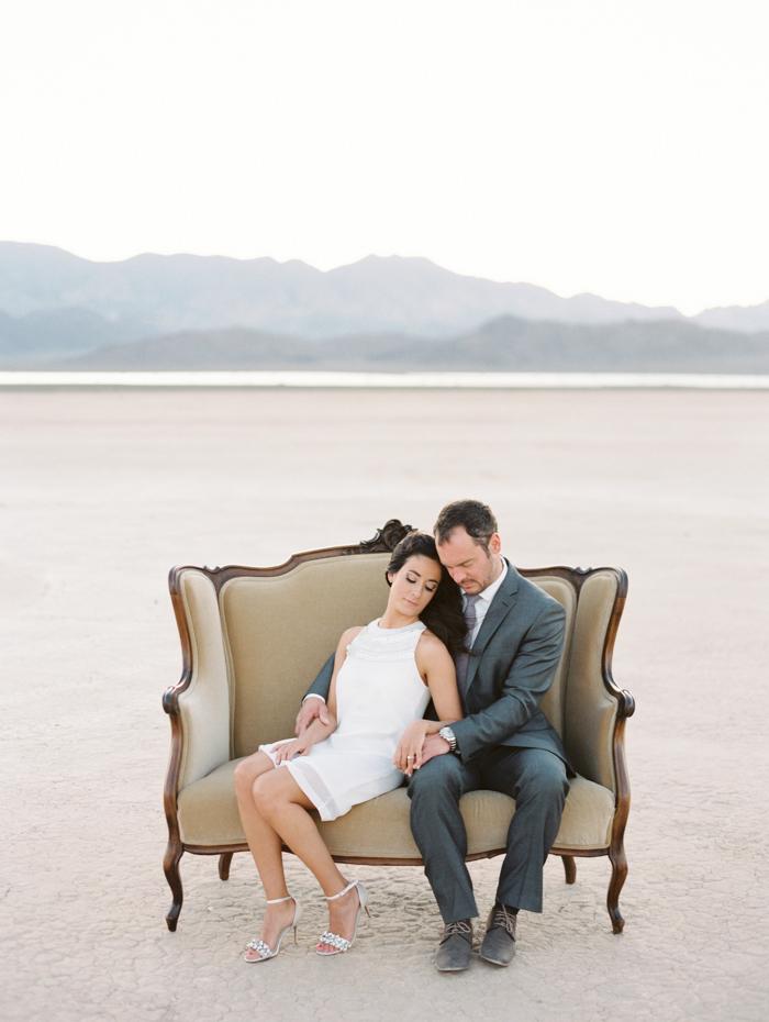 romantic las vegas desert engagement photo nostalgia resources couch