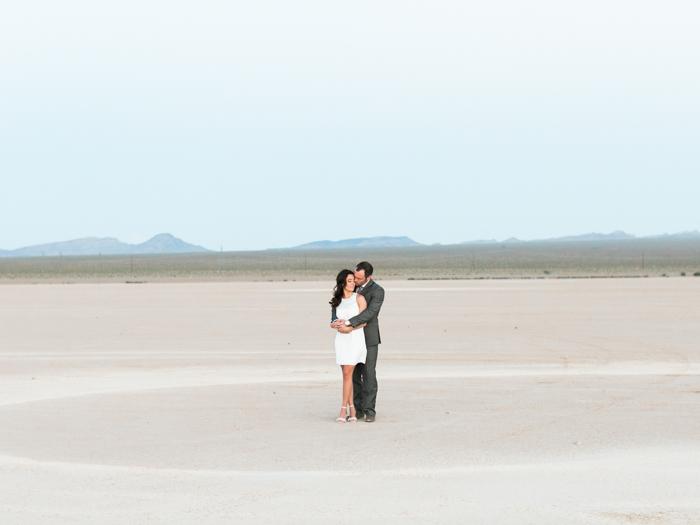 romantic las vegas desert engagement photo