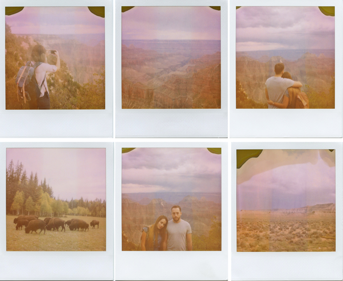 north rim grand canyon polaroids