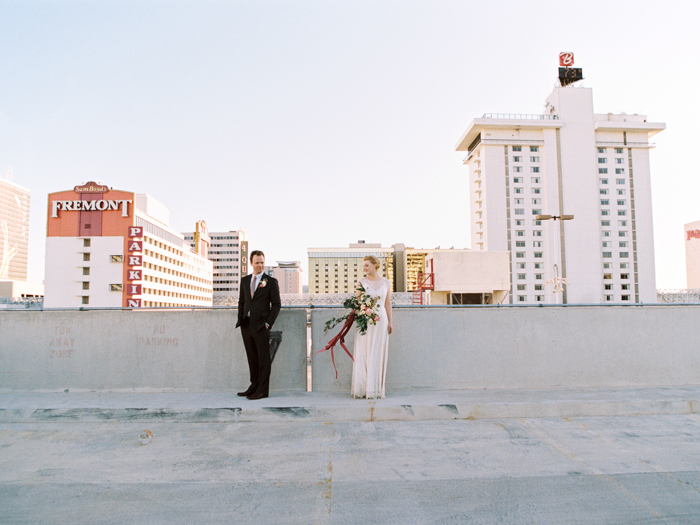 downtown las vegas indie wedding photo