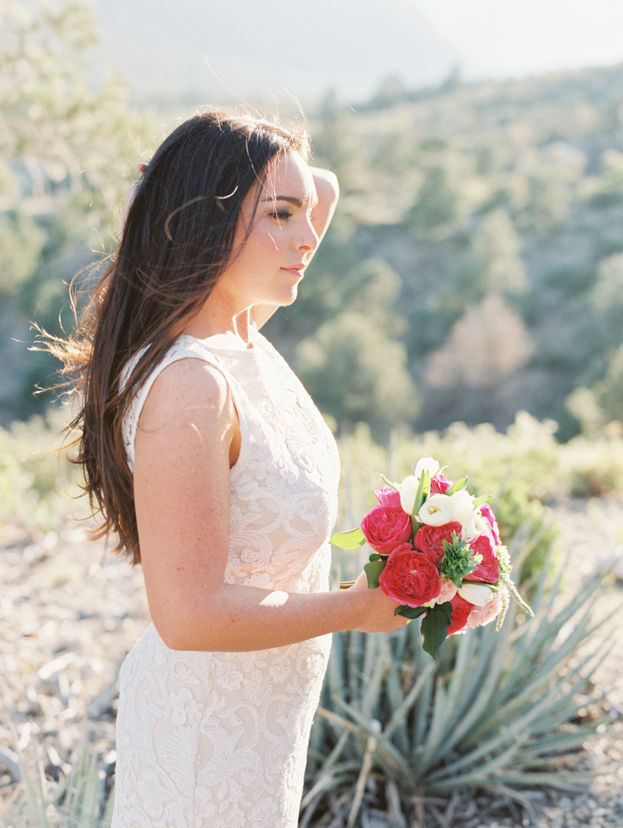 BHLDN wedding dress mountainside