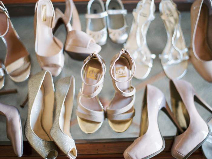 photo of bridesmaids shoes | gaby j photography