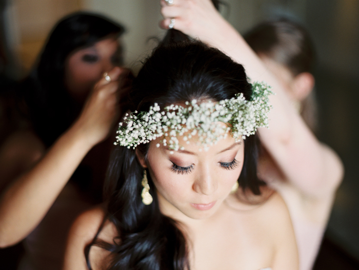 baby's breath flower crown | gaby j photography