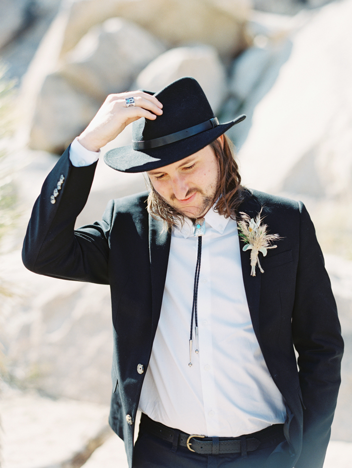chic groom desert cowboy hat