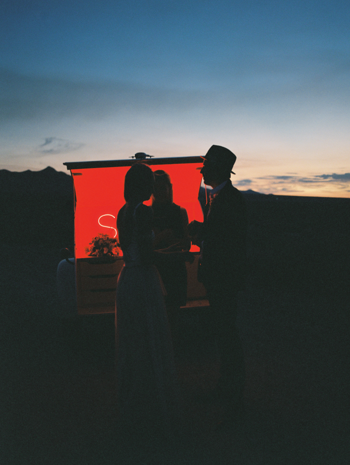 stylish corn creek nv desert elopement | gaby j photography | flora pop pop up wedding