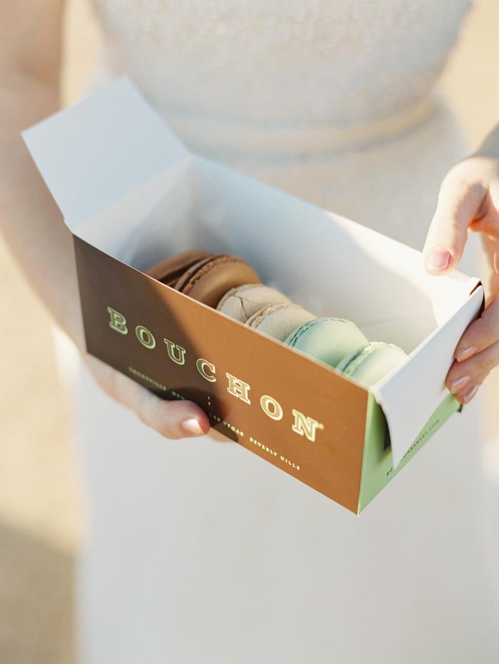 romantic eldorado dry lake bed elopement | las vegas elopement photographer| gaby j photography | same sex desert elopement inspiration | bouchon macarons