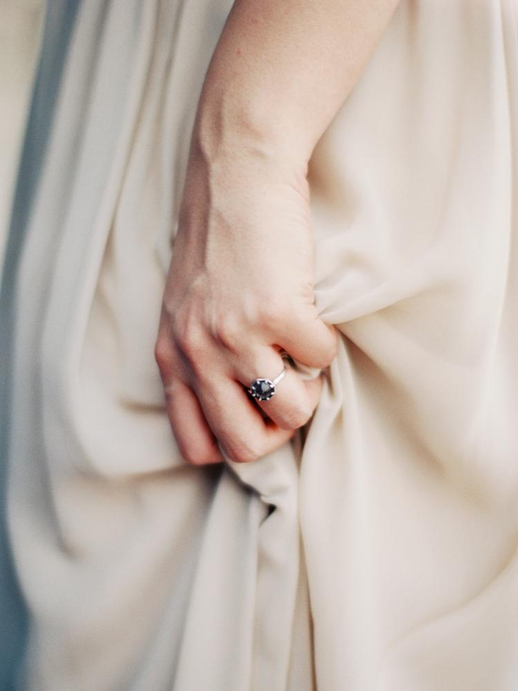 unique smokey stone wedding engagement ring