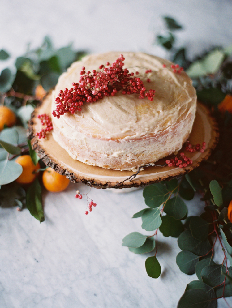 herb de provence cake with dried pink peppercorn | intimate birthday dinner | gaby j photography