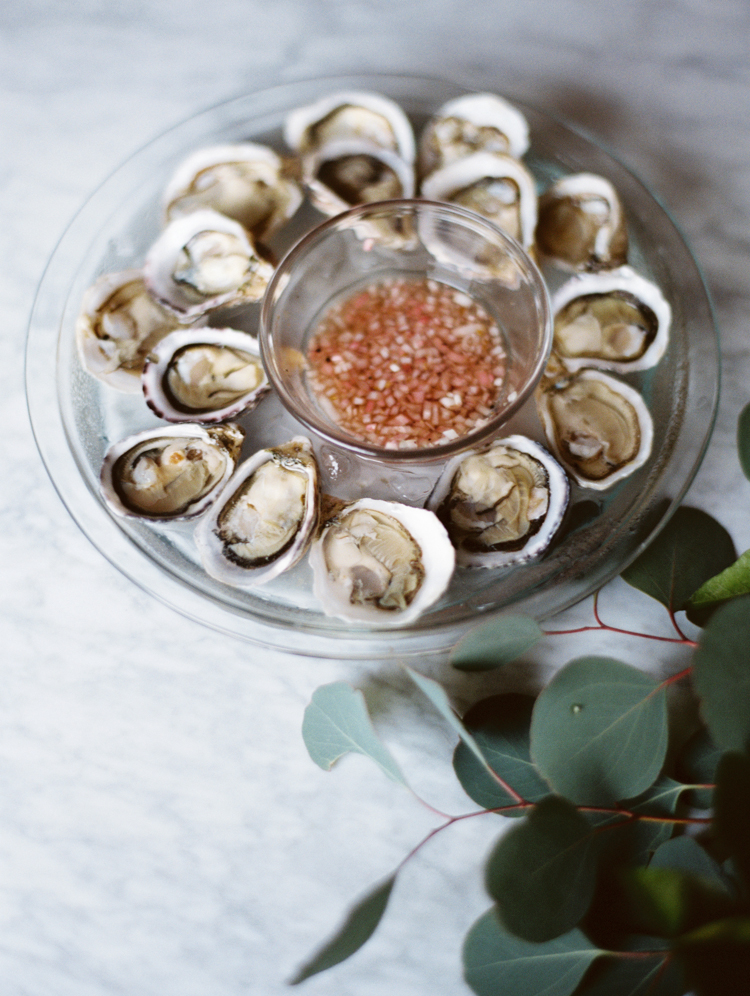 kusshi oysters | intimate birthday dinner | gaby j photography