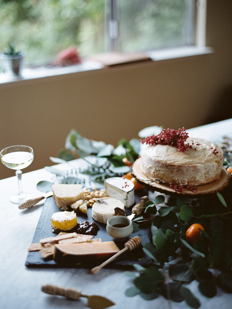 herb de provence cake with dried pink peppercorn | charcuterie spread | intimate birthday dinner | gaby j photography