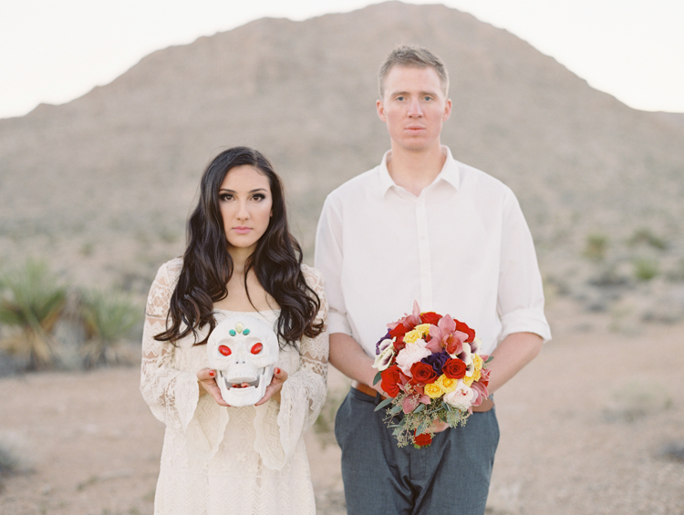 day of the dead inspired engagement session | gaby j photography | las vegas engagement photographer | dia de los muertos engagement