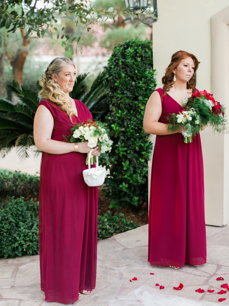 classic JW Mariott Las Vegas Wedding | las vegas wedding photographer | gaby j photography | wine colored bridesmaids dresses
