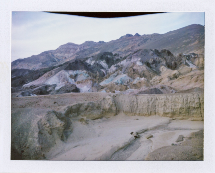 death valley national park artist palette | gaby j photography | fuji fp100c instant polaroid film