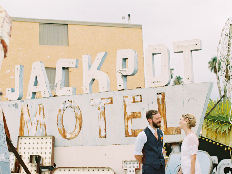 vintage las vegas signs wedding | gaby j photography | las vegas wedding photographer | flora pop flowers | grace loves lace phoenix wedding dress